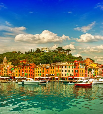Portofino village on Ligurian coast
