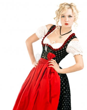 Woman in bavarian dress