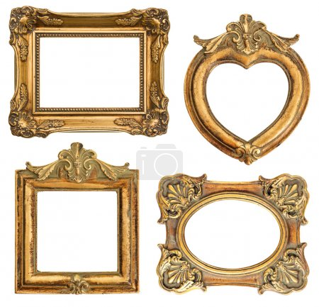 old golden frame. antique object