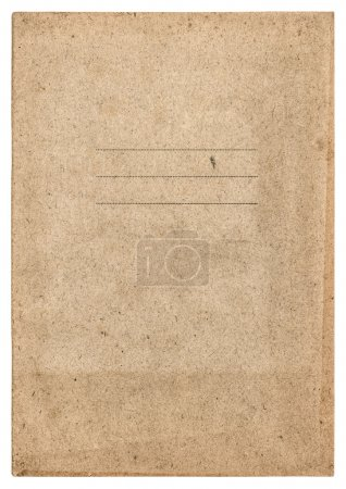 Photo for Old book cover isolated on white background. paper texture - Royalty Free Image