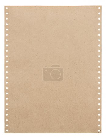 Foto de Hoja de papel viejo aislada en blanco. Grunge con textura de papel - Imagen libre de derechos