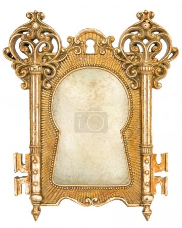 vintage golden picture frame with canvas