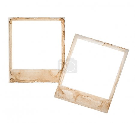 Photo for Instant photo frames isolated on white background. retro style design for your picture - Royalty Free Image