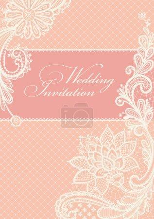 Foto de Fondo de encaje con un lugar para el texto. diseño vectorial de encaje vintage - Imagen libre de derechos
