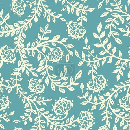 Vintage floral seamless pattern.