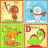 Alphabet Letter A B C D