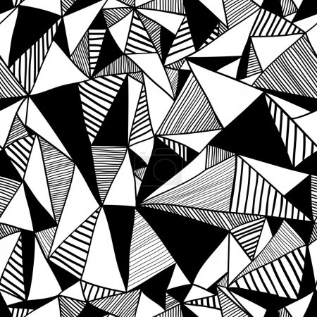 Seamless texture with triangles, endless pattern.