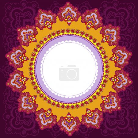 Frame in the Indian style.
