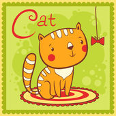 Alphabet letter C and cat