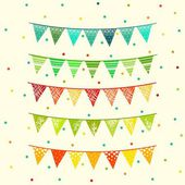 Party pennant bunting Flags