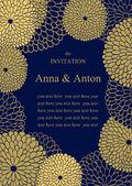 Wedding invitation Floral  background