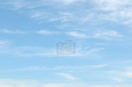 Photo for Light clouds in the blue sky - Royalty Free Image