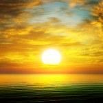 Sun rise over the sea...
