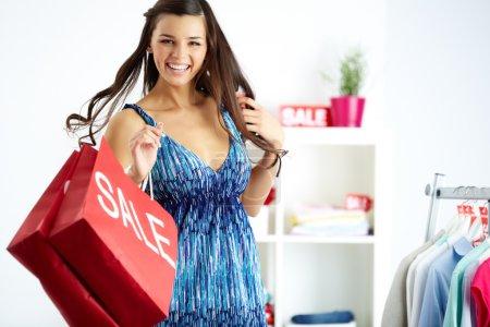 Shopper in joy