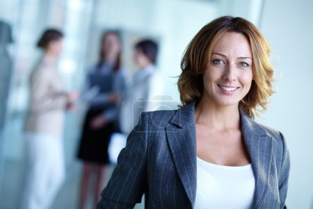 Photo for Image of pretty businesswoman looking at camera - Royalty Free Image