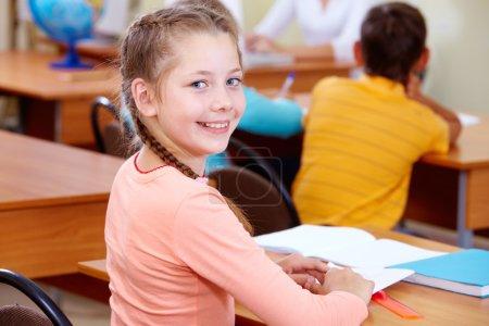 Adorable schoolchild