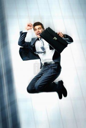 Dynamic businessman