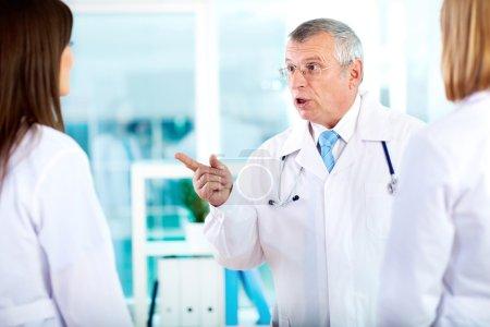 Annoyed doctor