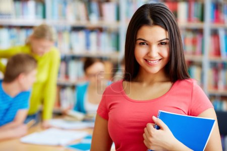 Student with copybook