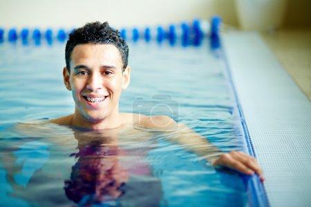 Guy in swimming pool