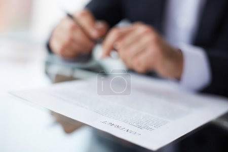 Terms of the contract