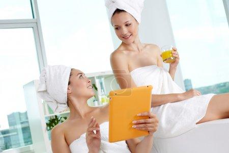 Networking in spa salon