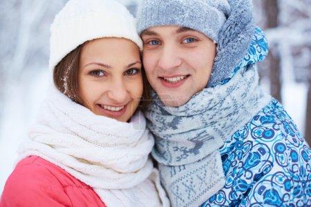Couple in winterwear