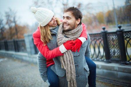 Embracing boyfriend