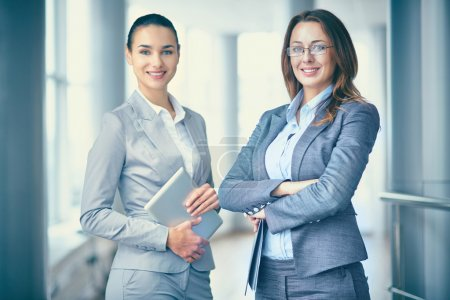 Pretty business partners