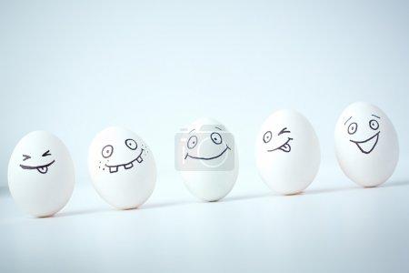 Eggs facial expressions