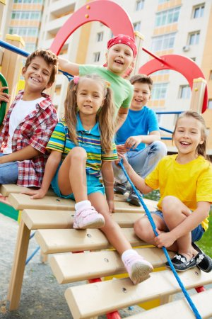 Friends on playground
