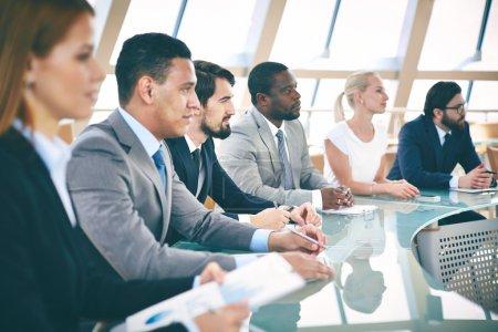 Business people at seminar