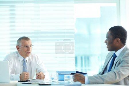 Senior boss and his employee
