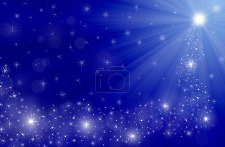 blue christmas background, illustration