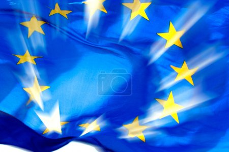 Photo for European union flag and sunbeams - Royalty Free Image