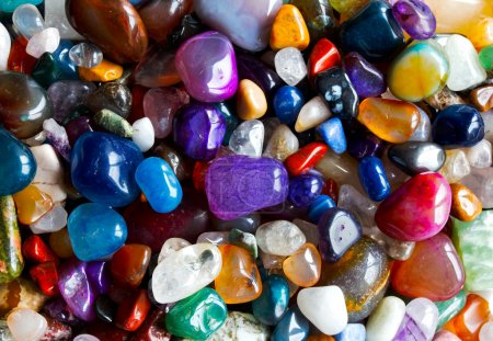 Many precious stones in the sunlight