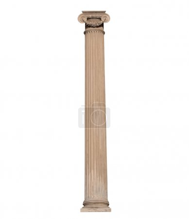 Column isolated on a white background