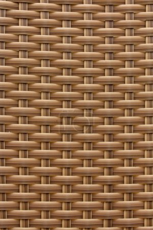 Background of a brown plastic weave pattern