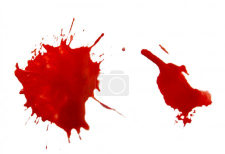Photo for Isolated drops of a blood - Royalty Free Image