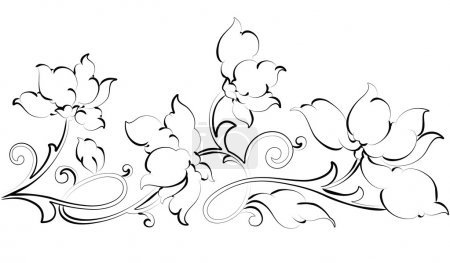 Illustration for Vector floral design element-floral border - Royalty Free Image