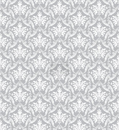 Illustration for Silver classic vector wallpaper and background - Royalty Free Image