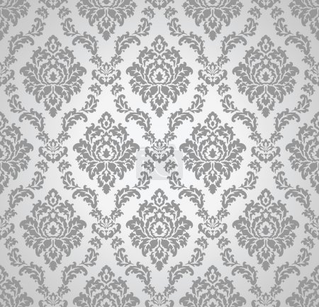 Illustration for Seamless damask vector wallpaper and pattern - Royalty Free Image