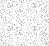 Seamless silver floral wallpaper
