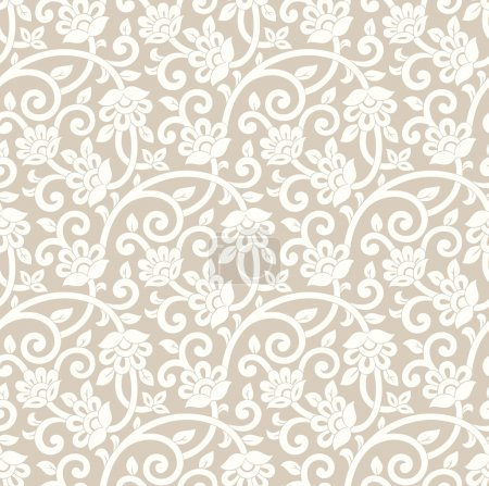 Seamless rich floral wallpaper