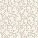 Seamless rich golden vector floral wallpaper...