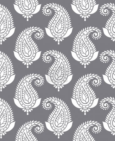 Illustration for Seamless vector paisley for textile design - Royalty Free Image