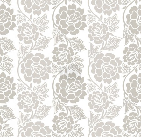 Illustration for Floral seamless vector wallpaper,background - Royalty Free Image