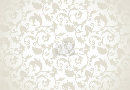 Illustration for Royal seamless golden vector wallpaper - Royalty Free Image