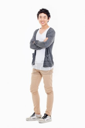 Photo for Young Asian man isolated on white background. - Royalty Free Image