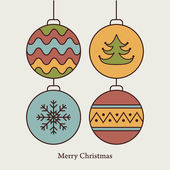 Stylish card with christmas balls Vector illustration